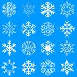 Flocons de neige de vecteur Illustration Stock