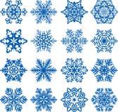 Flocons de neige de vecteur Photographie stock libre de droits