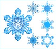 Flocons de neige de vecteur illustration libre de droits