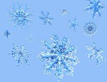 Flocons de neige en baisse éclatants Photo stock