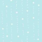 Flocons de neige en baisse dans le silence Image libre de droits