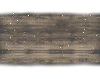 Flocons de neige en bois de neige de fond de conception Photographie stock