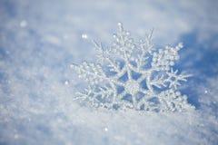 Flocons de neige en hiver Photos libres de droits