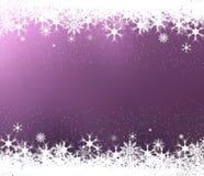 Flocons de neige et étoiles illustration de vecteur