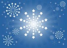 Flocons de neige et étoiles Images libres de droits