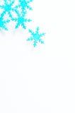 Flocons de neige et hiver Images stock