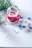 Flocons de neige et hiver Photographie stock libre de droits