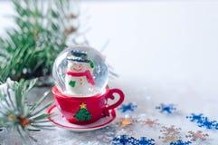 Flocons de neige et hiver Images libres de droits