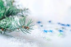 Flocons de neige et hiver Image libre de droits