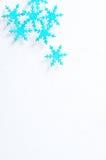 Flocons de neige et hiver Photos libres de droits