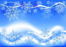 Flocons de neige et ondes illustration libre de droits