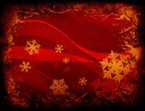 Flocons de neige et ondes illustration de vecteur