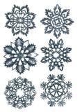 Flocons de neige fabriqués à la main Photos stock