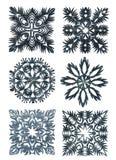 Flocons de neige fabriqués à la main Images libres de droits