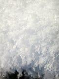 Flocons de neige -- Fermez-vous vers le haut de la vue détaillée des flocons de neige d'hiver Photos libres de droits