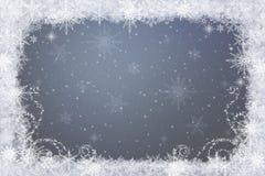 Flocons de neige - fond d'hiver photographie stock libre de droits