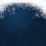 Flocons de neige - fond d'hiver illustration stock