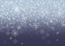 Flocons de neige - fond d'hiver images stock