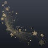 Flocons de neige - fond d'hiver illustration libre de droits