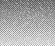 Flocons de neige, fond de neige D'isolement sur le fond transparent photos libres de droits