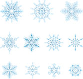 Flocons de neige glacials Images libres de droits