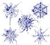 Flocons de neige grunges de peinture, éléments pour la conception, vecteur Photos libres de droits
