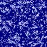 Flocons de neige légers abstraits sur le fond bleu-foncé, texture d'hiver, illustration sans couture illustration libre de droits