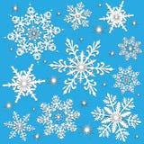 Flocons de neige l'hiver ou Noël Images libres de droits