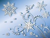 Flocons de neige l'hiver ou Noël Photos stock