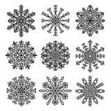 Flocons de neige Mandala Set de vecteur Illustration Libre de Droits