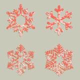 Flocons de neige de Noël avec les taches rouges, taches, élément de conception illustration libre de droits