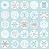 flocons de neige de Noël de collection Photographie stock libre de droits