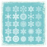flocons de neige de Noël de collection Images libres de droits