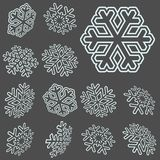 flocons de neige de Noël de collection Photo stock
