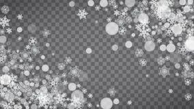 Flocons de neige de Noël et de nouvelle année Image stock