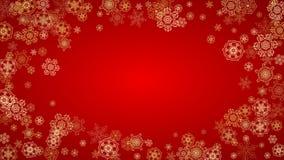 Flocons de neige de Noël et de nouvelle année Photo stock