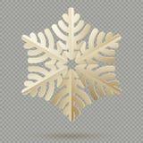Flocons de neige de papier de décoration de Noël de cru avec l'ombre d'isolement sur le fond transparent ENV 10 illustration libre de droits