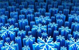 Flocons de neige : plaque futuriste Photo libre de droits