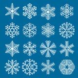 Flocons de neige plats de Noël de conception Images libres de droits