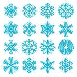 Flocons de neige plats de Noël de conception Photo libre de droits