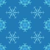 Flocons de neige pour aquarelle sur le fond bleu Images stock