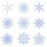 Flocons de neige pour votre conception Images libres de droits