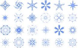Flocons de neige réglés Image stock