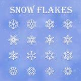 Flocons de neige réglés illustration de vecteur