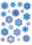 Flocons de neige réglés illustration stock