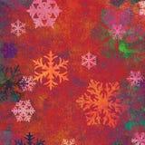 Flocons de neige sur le fond texturisé Photo libre de droits