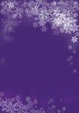 Flocons de neige sur Noël Photo libre de droits