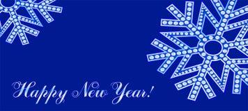 Flocons de neige sur un fond bleu-foncé illustration stock