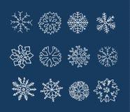 Flocons de neige tirés par la main illustration libre de droits