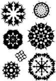 Flocons de neige tramés Image libre de droits